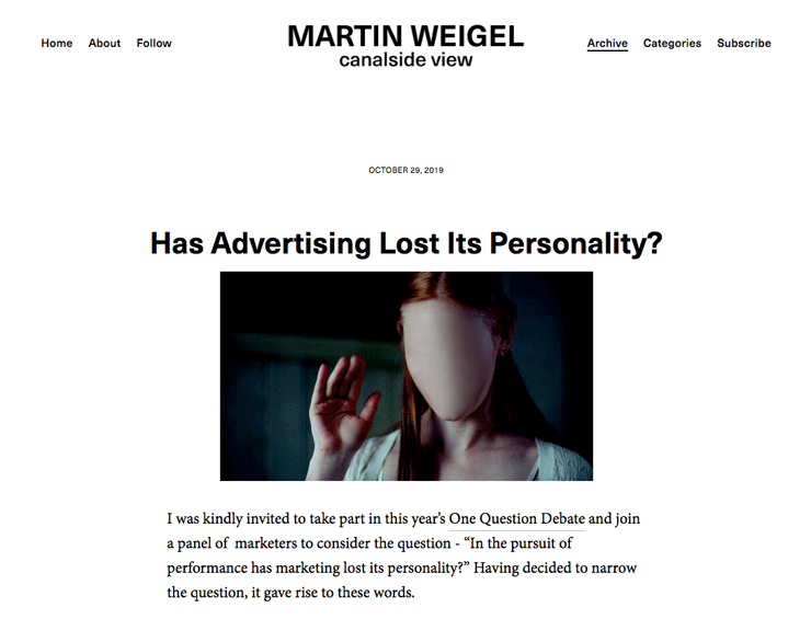 MartinWeigel_Has_Advertising_Lost_Its_Personality