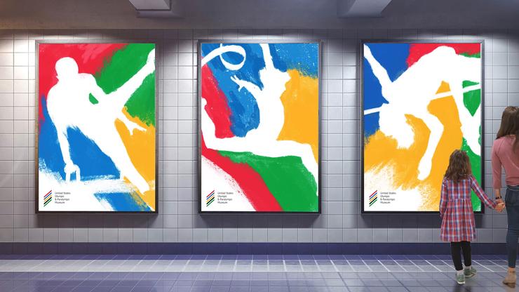 米国オリンピックパラリンピック博物館のポスターグラフィック
