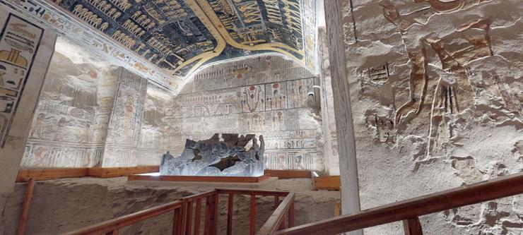 エジプトのラメセス6世の墓の3Dバーチャルツアー