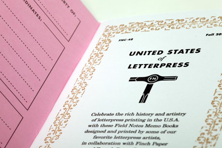 アメリカの活版印刷の伝統と遺産を受け付いたメモ帳シリーズ「United States of Letterpress 」