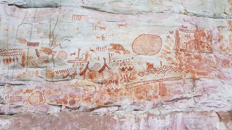 アマゾンで発見された古代壁画