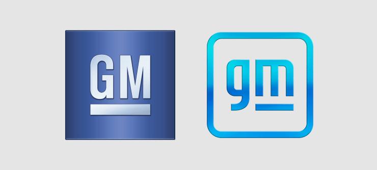 ゼネラルモータースのロゴの新旧比較
