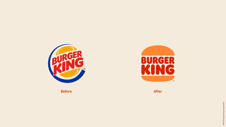 バーガーキングの20年ぶりのリブランディング ロゴ