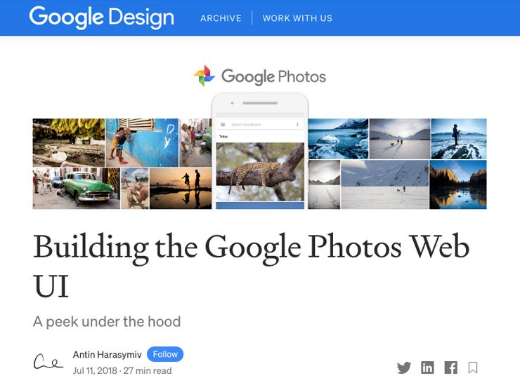 『GoogleフォトのウェブUI』の開発ストーリー