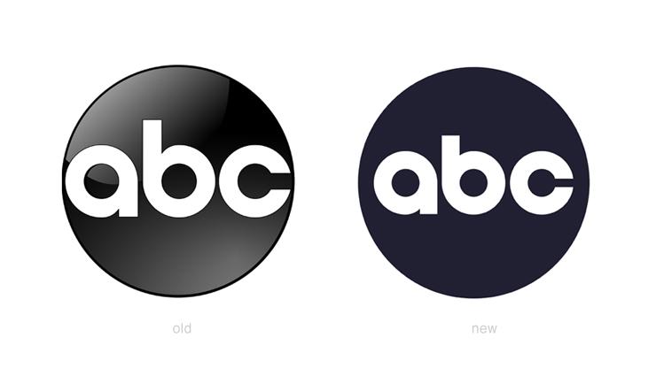 新旧のabc(アメリカン・ブロードキャスティング・カンパニー)のロゴ